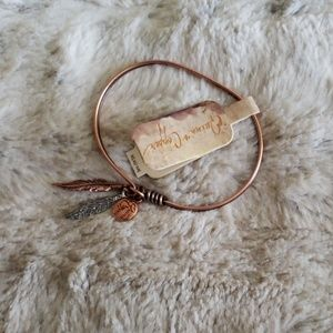Buckle Quinn and Copper Feather Bracelet